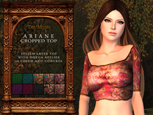 The Muses . Ariane Crop Top (System layers + Omega Applier)
