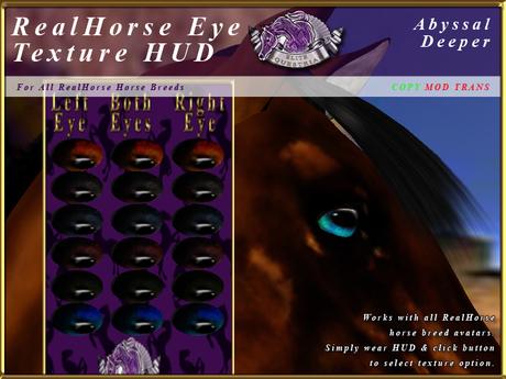 *E* RealHorse EyeTexture HUD [BOXED] Abyssal Deeper