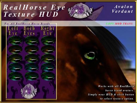 *E* RealHorse EyeTexture HUD [BOXED] Avalon Verdant