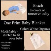 White Organza Baby Blanket