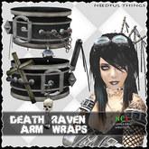 *NT* DEATH RAVEN  arm wraps (punk ninja gothic style)