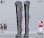!Rebel Hope - Jane Mesh Thigh High Boots Gray
