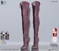 !Rebel Hope - Jane Mesh Thigh High Boots Pink