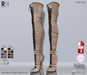 !Rebel Hope - Jane Mesh Thigh High Boots Tan