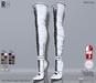 !Rebel Hope - Jane Mesh Thigh High Boots White