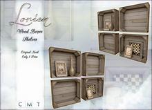 LORIEN VINTAGE WOOD BOXES SHELVES
