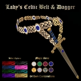 Ashira's Aerie - Lady's Celtic Dagger Belt