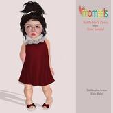 ..MoMenTs..Ruffle Neck Dress (Red)Toddleedoo