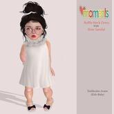 ..MoMenTs..Ruffle Neck Dress (White)Toddleedoo