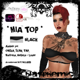 BLASPHEMIC - MIA TOP - BLACK