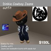 Complete Dinkie Outfit Cowboy (box)