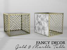 Fancy Decor: Gold & Marble Table