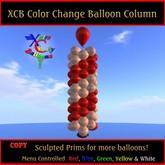 Color Change Balloon Column - 4 Latex Balloon Columns in 1 - COPY - Xntra City Balloons