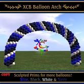 Balloon Arch - Blue, Black, Navy & White - Xntra City Balloons
