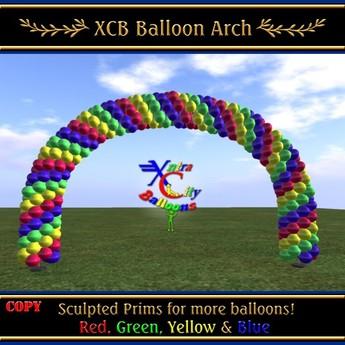 Balloon Arch - Red, Green, Yellow & Blue - COPY - Xntra City Balloons
