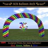 Ballon Arch - Rouge, Vert, Jaune & Bleu - COPIE - Ballons Ville Xntra
