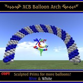 Balloon Arch - Blue & White - COPY - Xntra Stadt Balloons