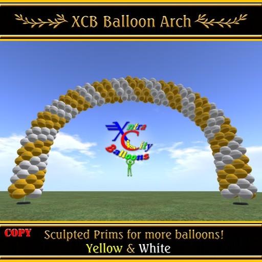 Balloon Arch - Yellow & White  - COPY - Xntra City Balloons