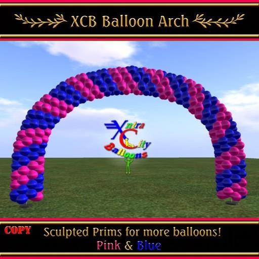Balloon Arch - Pink & Blue - COPY - Xntra City Balloons