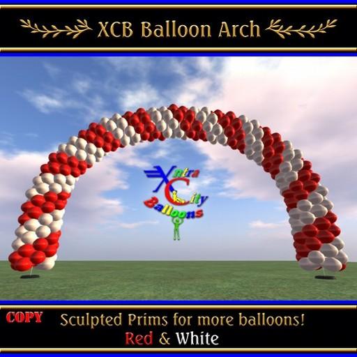 Balloon Arch - Red & White - COPY - Xntra City Balloons