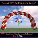 Balloon Arch - Red & White - COPY - Xntra City Balloons