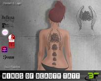 B*FLY Wings of Beauty Tattoo
