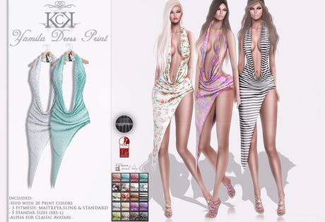 :::KC::: Yamila-Print Dress