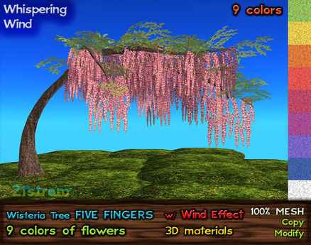 21strom Wisteria Tree Five Fingers - 9 colors, Smooth WInd Effect