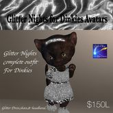 Glitter Nights Silver dress outfit for Dinkies (box)