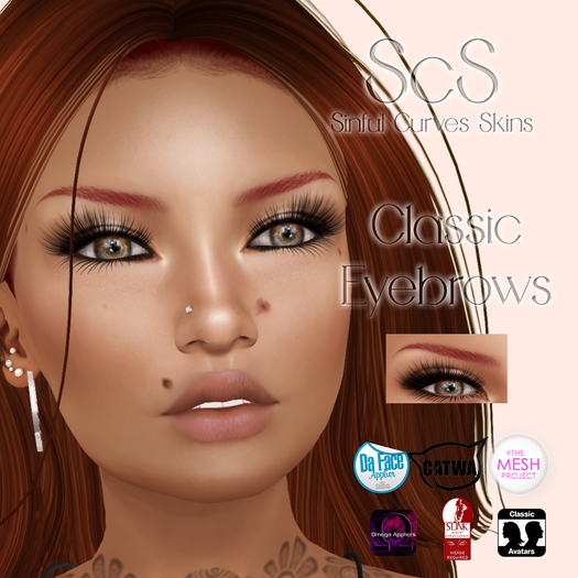 Avada~ Classic Eyebrows Red