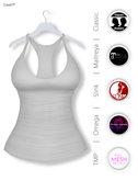 Gawk! Grey Basic Tank Top incl. Appliers for #TheMeshProject, Maitreya Lara, Slink Physique & Omega System