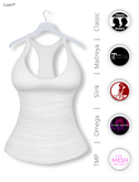 Gawk! White Basic Tank Top incl. Appliers for #TheMeshProject, Maitreya Lara, Slink Physique & Omega System