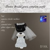 Dinkie Bridal Gown complete outfit (box)