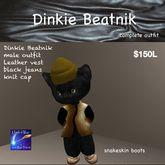 Dinkie Male Beatnik Leather vest & Jean complete outfit(box)