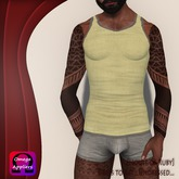 [House of Ruby] Basic Tanktop for Him - Yellow PROMO