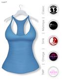 GAWK! Blue Basic Tank Top   BoM & Appliers for Maitreya, Slink Physique, TMP & Omega System