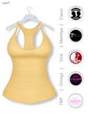 GAWK! Pastel Yellow Basic Tank Top | BoM & Appliers for Maitreya, Slink Physique, TMP & Omega System