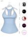 Gawk! Pastel Blue Basic Tank Top incl. Appliers for #TheMeshProject, Maitreya Lara, Slink Physique & Omega System