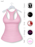 Gawk! Pastel Pink Basic Tank Top incl. Appliers for #TheMeshProject, Maitreya Lara, Slink Physique & Omega System
