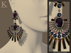 (Kunglers) Shani earrings V1 - amethyst