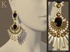 (Kunglers) Shani earrings V1 - obsidian