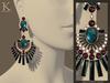 (Kunglers) Shani earrings V1 - opal