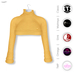 GAWK! Lemon Cozy Mini Sweatshirt | BoM & Appliers for Maitreya, Slink Physique, TMP & Omega System