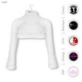 Gawk! White Cozy Mini Sweatshirt incl. Appliers for #TheMeshProject, Maitreya Lara, Slink Physique & Omega System