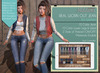 """Addams """"Real"""" Worm Out Mesh Jeans -Maitreya, Belleza, Slink #FATPACK"""
