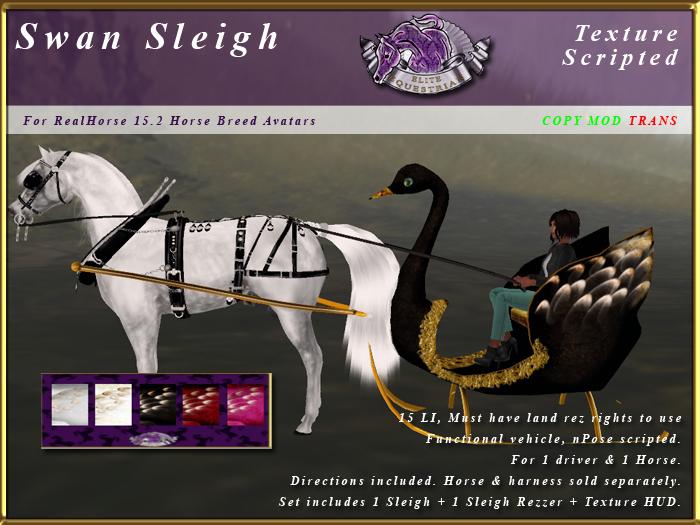 *E* Swan Sleigh [RH 15.2] BOXED