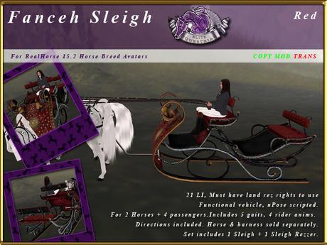 *E* Fanceh Sleigh [RH 15.2] BOXED Red