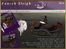 *E* Fanceh Sleigh [RH 15.2] BOXED Red