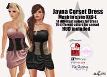 JUNES Jayna Corset Dress with HUD