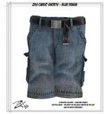 .:ZiSP:. ZKS Cargo Shorts - Blue Denim - KiDS Fitmesh/SMB
